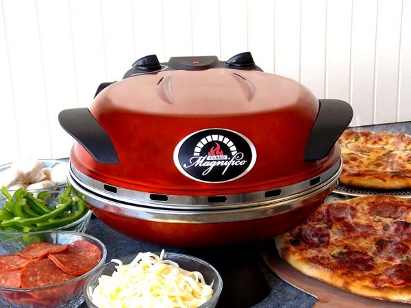Forno Magnifico Electric Pizza Oven open pizza
