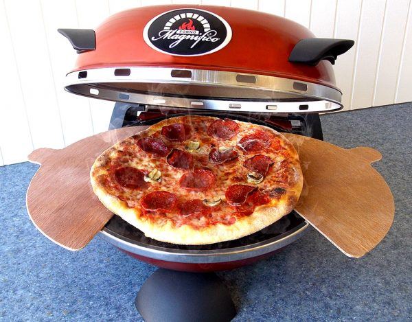 Forno Magnifico Electric Pizza Oven open pizza wood peels